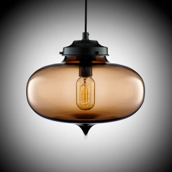 American Creative Transparent Glass Pendant Lights Lamp 220V