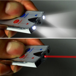 BS-017 Mini Nyckelring Ficklampa Kort med Laserljus