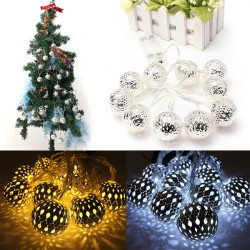 Battery Operated 1.2m 10 LED Ball String Fairy Lights Christmas Decor
