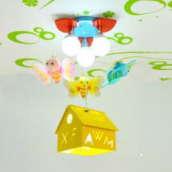 Bee Pendent Ljus Tecknad Barn Baby Sovrum Lights Lampor 220V