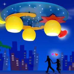 Blå Moon Stjerne Tegneserie Soveværelse LED Loftlys Børns Room 220V