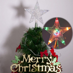 Christmas Tree Topper Star Light Color Changing Decoration Lighting