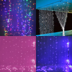Christmas light 3mx3m 300 LED String Lights Curtain Lights 220V