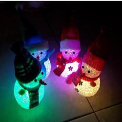 Crystal julSnowman Färgglada Små Nattlampa Julklapp