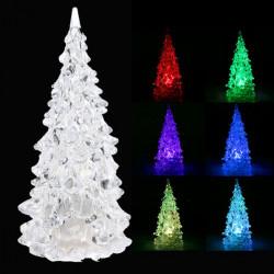 Crystal LED Jul Xmas Tree 7 Colors Ändra Nattlampa