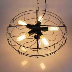 Europe Type Restaurant Balcony Retro Electric Fan Vedhæng Lamp110-240V