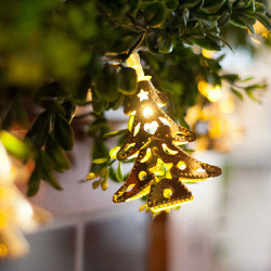 Fancy Varm Hvid Christmas Tree Holiday Dekoration Fe String Lys