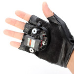 Gloves Double Purple Swirl Laser Gloves 405nm Built-in Battery 1mw/5mw Lasers