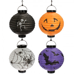 Hanging Portable/Foldable Paper Lantern Halloween Party Decorations