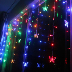 LED Butterfly String Lights Christmas Wedding Curtain Lamps 110V/220V