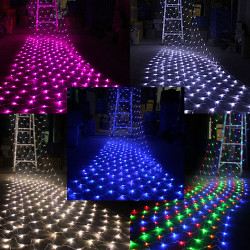 LED Net Light 1.5M x 1.5M 100 LEDs Xmas Fairy Lights EU Plug 220V