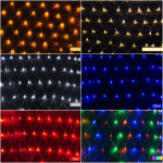LED Net Light 1.5M x 1.5M 100 LEDs Xmas Fairy Lights US Plug 110V Holiday Lights