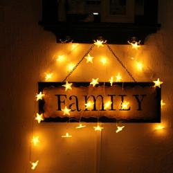 LED Star Ljus Slinga Batteridriven Wedding Heminredning Lampa