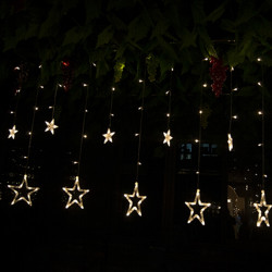 LED Stjerner Curtain Lys String Julen Wedding Dekoration Lampe 220V