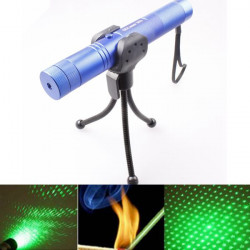 LT-0669 Adjustable Focus 532nm 5mw Green Laser Pointer+Light Star Cap