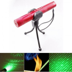 LT-0670 Adjustable Focus 532nm 5mw Green Laser Pointer+Light Star Cap