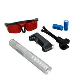 LT-0886 532nm Burning Grøn Laser Pointer Laserpenne Suit Med Briller
