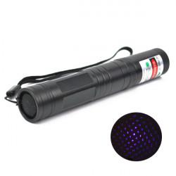 LT-851 405 Nm Multi-Point Purple Star Laserpekare Ficklampa 1MW / 5mW