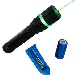 LT-HJA85 532nm Zoomable Grøn Laser Pointer Laserpenne Suit 5mw 1x16340