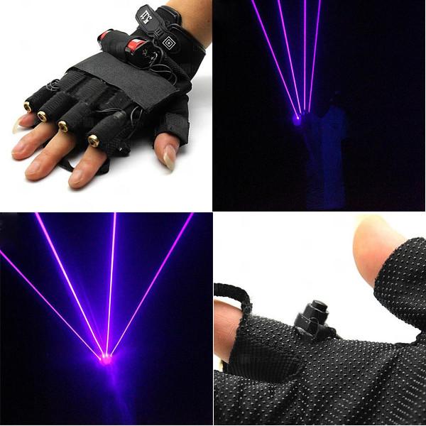 LT-xe405 405nm Glove Purple Laser Handskar 1MW / 2 MW / 3 MW 1x18650 Laserpekare