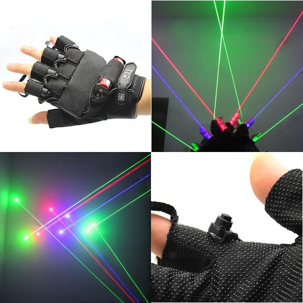 LT-xe5460 532nm 650nm 405nm Gloves Green Laser Gloves 1mw/5mw 1x18650 Lasers