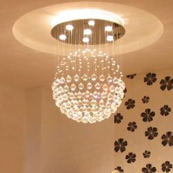 Modern LED Crystal Ball Chandelier Pendant Light With 7 Lights 85-265V