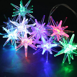 Multi-color LED Star String Light Lamp Outdoor Fairy Xmas Garden Party