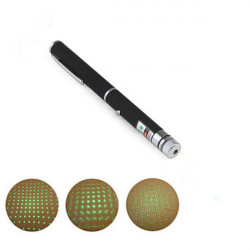 Pen Shape 2-I-1 5mW 532nm Grøn Lys Laser Pointer Laserpenne + AAA