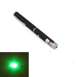 Pen Shape 5mW 532nm 1-Pattern Grøn Lys Laser Pointer Laserpenne + AAA
