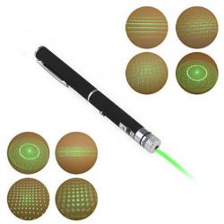 Pen Shape 5mW 532nm 5-Mönster Grön Ljus Laserpekare + AAA