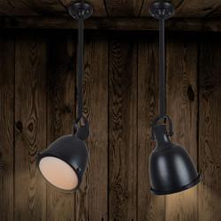Retro Industrial Black Iron LED Bar Hänge Taklampa E27 Base 220V
