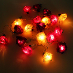 Rose Pendant String Fairy Light Decor Wedding Party Patio SPA