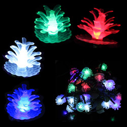 Solar Pine Cone Formet String Lys 30 LED Udendørs Have Party Lamp