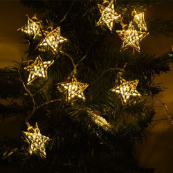 Special Copper Wire Hollow Out Star Christmas Decoration Fairy Lights