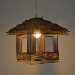 Söt Woven Rotting Cabin Hänge Light Restaurant Lighting 220V