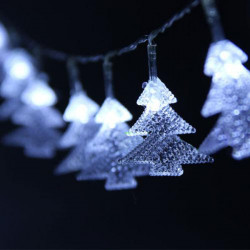 Tree Shaped LED Vit Light Jul Slinga Fairy Dekoration