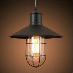Tappning Industriell Edison Ljus Järnbur Taklampa 110-240V