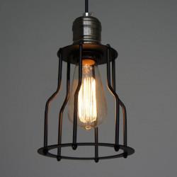 Tappning Järnbur Krona Retro Edison Ljus Hängande Lampa 85-265V AC
