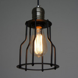 Vintage Iron Cage Lysekrone Retro Edison Lys Lampe 85-265V AC