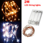 Warm White/Pure White 2M 20LED Copper Wire LED String Lights Lamp 5V Holiday Lights