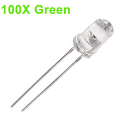 100pcs 5mm 3000-6000mcd LED Bright Decoration Torch Toy Light Green