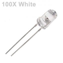 100pcs 5mm 3000-6000mcd LED Bright Decoration Torch Toy Light White