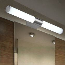 10W Brief Tube Stainless Steel LED Wall Light Bathroom Mirror Lamp