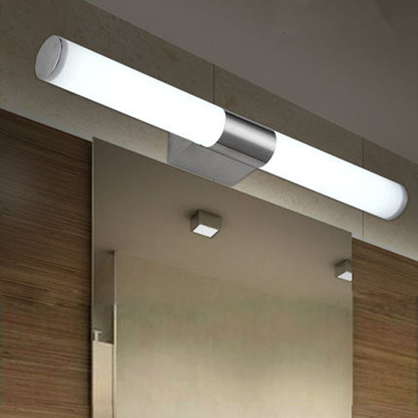 10W Brief Tube Stainless Steel LED Wall Light Bathroom Mirror Lamp Wall Lights