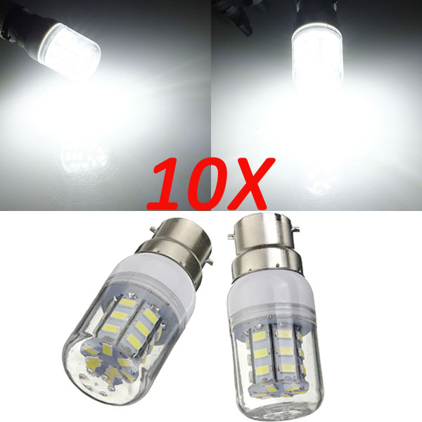10X B22 3.5W 420LM 27 SMD 5730 Pure White LED Corn Bulbs 220V LED Light Bulbs