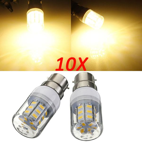 10X B22 3.5W 420LM 27 SMD 5730 warmes Weiß LED Mais Birnen 220V LED Lampen