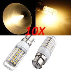 10X B22 7.5W Warm White 5730 SMD 69 LED Corn Light Bulb 220V