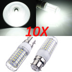 10X B22 7.5W White 5730 SMD 69 LED Corn Light Bulb 220V LED Light Bulbs