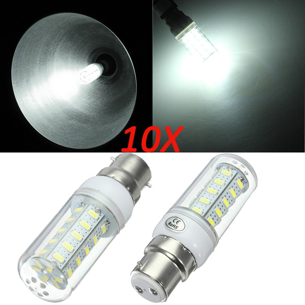 10X B22 7W White 5730 SMD 36 LED Corn Light Lamp Bulb 220V LED Light Bulbs