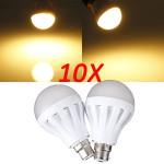 10X B22 9W 30LED 3014 SMD Globe Bulb Light Lamp Warm White 220-240V LED Light Bulbs